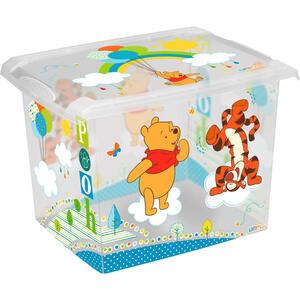 Disney Box mit deckel , 1280100108400 , Multicolor, Transparent , Kunststoff , 29x27x39 cm , glänzend , Deckel, Deckel abnehmbar, stapelbar , 003556000208