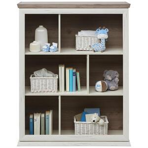 My Baby Lou Standregal grau, weiß , Camron -Sc- , Holzwerkstoff , 2 Fächer , 110x138.8x43 cm , Melamin,Nachbildung,Nachbildung , stehend , 000003000406