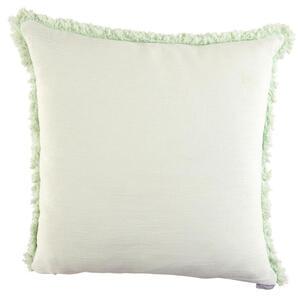 Ambiente Kissenhülle weiß, hellgrün 48/48 cm , Cotton , Textil , Uni , 48x48 cm , 005717000409