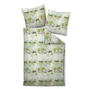 Janine Bettwäsche seersucker grün, weiß 135/200 cm , Tango 20088-06 , Textil , Tier , 135x200 cm , Seersucker , bügelfrei, pflegeleicht, atmungsaktiv, hautfreundlich, saugfähig, schadstoffgeprü