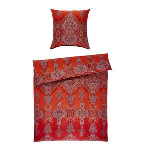 Bassetti Bettwäsche rot , 9278221 Moreta , Textil , Ornament , 155x220 cm , pflegeleicht, bügelleicht , 005639020601