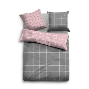 Tom Tailor Bettwäsche satin grau, rosa 155/220 cm , 69922 , Textil , 155x220 cm , Satin , pflegeleicht, hautfreundlich, bügelleicht , 003336018702