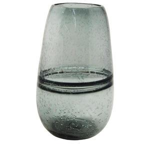 Novel Vase 27 cm , Aw255 , Grau , Glas , 27 cm , farbig , handgemacht, zum Stellen , 0054130012