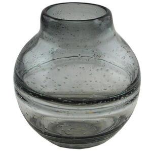 Novel Vase 17.5 cm , Aw304 , Grau , Glas , 17.5 cm , farbig , handgemacht, zum Stellen , 0054130011