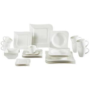 Ritzenhoff Breker Porzellan kombiservice 28-teilig , Melodie , Weiß , Keramik , 220 ml,220 ml,380 ml,450 ml , glänzend , 0080900099