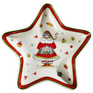 X-Mas Servierplatte , Christmas Dream , Multicolor , Keramik , Weihnachten , glänzend , hitzebeständig , 0071360140