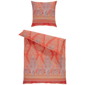 Bassetti Bettwäsche orange , 9306057 Elba , Textil , Ornament , 155x220 cm , pflegeleicht, bügelleicht , 005639011401