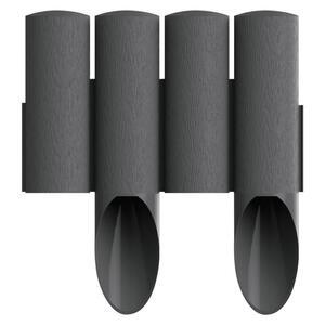 XXXLutz Gartenpalisade , 8034044 , Grau , Kunststoff , 55 mm , 25.5 cm , 008802027802