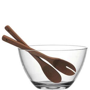 Leonardo Schale holz, glas , 041551 , Braun, Klar , 19.3 cm , 003813227801