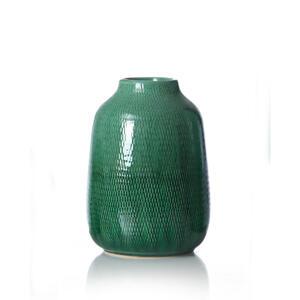 Ritzenhoff Breker Vase 22 cm , 259247 , Grün, Dunkelgrün , Keramik , 16x22x16 cm , glänzend , zum Stellen , 003417063802