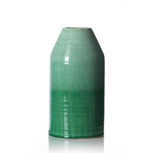 Ritzenhoff Breker Vase 29 cm , 259209 , Grün, Hellgrün , Keramik , 16x29x16 cm , glänzend , zum Stellen , 003417063803