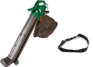 4 in 1 Elektro Laubsauger, 3000 Watt + Zusatz-Fangsack und Sicherheits-Arbeitsgurt GartenMeister