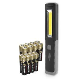 Aktionspack mit 8x Mignon und 8x Micro Batterien + GRATIS LED Arbeitsleuchte Ansmann