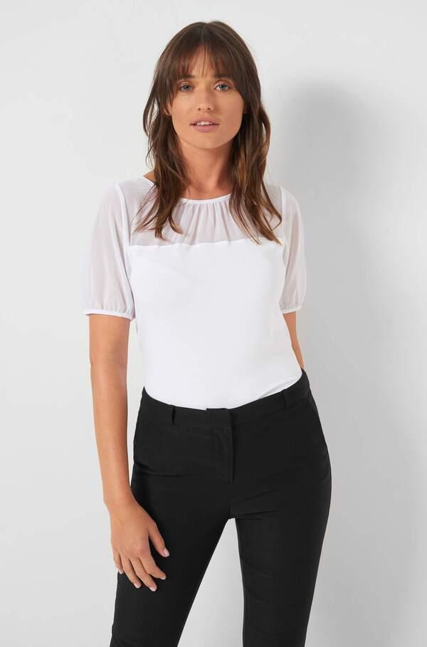 Shirt mit Mesh