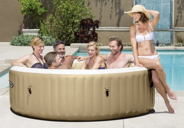 Intex Whirlpool PureSPA 85 Bubble ,  beige, Ø 216 x 71 cm