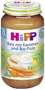 Hipp Bio Reis mit Karotten und Bio-Pute ab dem 8. Monat 220 g