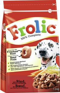 Frolic 100% Complette mit Rind, Karotten & Getreide Hundefutter trocken 1,5KG