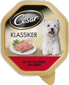 Cesar Klassiker mit Rind und Leber Hundefutter nass 150 g