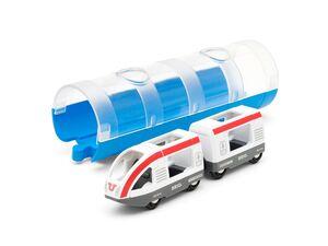 BRIO 33891 »Tunnel Box Reisezug«, 3-teilig, durchsichtiger Tunnel, ab 3 Jahren