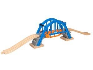 BRIO 33961 »Smart Tech Hebebrücke«, 3-teilig, mit 2 aufsteigenden Holzschienen, ab 3 Jahren