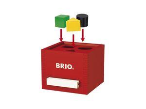 BRIO 30148 »Rote Sortier-Box«, 7-teilig, mit 6 Holzbausteinen, ab 1 Jahr