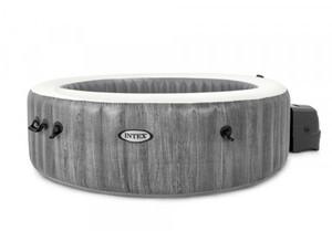 Intex Whirlpool PureSPA Bubble Massage Greywood Deluxe grau, Ø 216 x 71 cm
