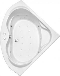 Ottofond Whirlpool Madras 145 cm, weiß mit 2 LED Farblichtwechslern