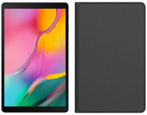 Galaxy Tab A 10.1 WiFi (2019) Tablet schwarz inkl. Anymode Book Cover