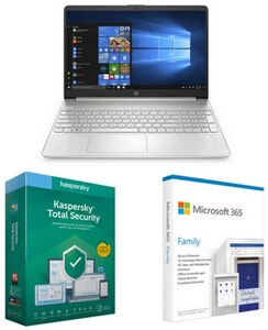 "15s-fq1657ng (241Z2EA) 39,6 cm (15,6"") Notebook natursilber inkl. Total Security + 365 Family FPP"