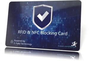 RFID NFC Blocker Karte blau