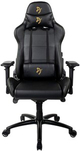 Verona Signature Black PU Gaming-Stuhl gold logo