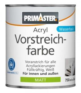 Primaster Acryl Vorstreichfarbe ,  750 ml, weiß, matt