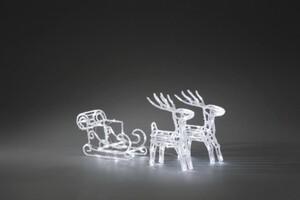 Konstsmide LED Acryl-Set Schlitten mit 2 Rentieren ,