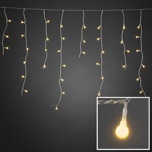 Konstsmide LED Eisregen Lichtervorhang für Außen ,  400 LED, bernstein