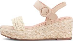 COX, Keil-Sandalette in beige, Sandalen für Damen