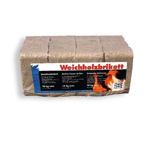 Weichholzbrikett, 10 kg