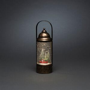 "Konstsmide              LED-Wasserlaterne ""Weihnachtsbäume"", 13x34,8x13 cm"