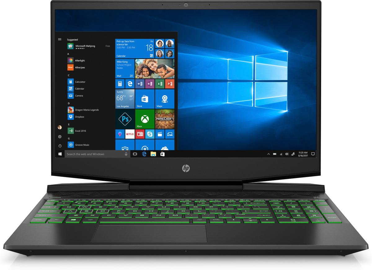 Bild 1 von HP Pavilion 15-dk1325ng, Gaming Notebook mit 15.6 Zoll Display, Intel® Core™ i5 Prozessoren der 10. Generation Prozessor, 8 GB RAM, 512 GB SSD, GeForce® GTX 1650, Schwarz