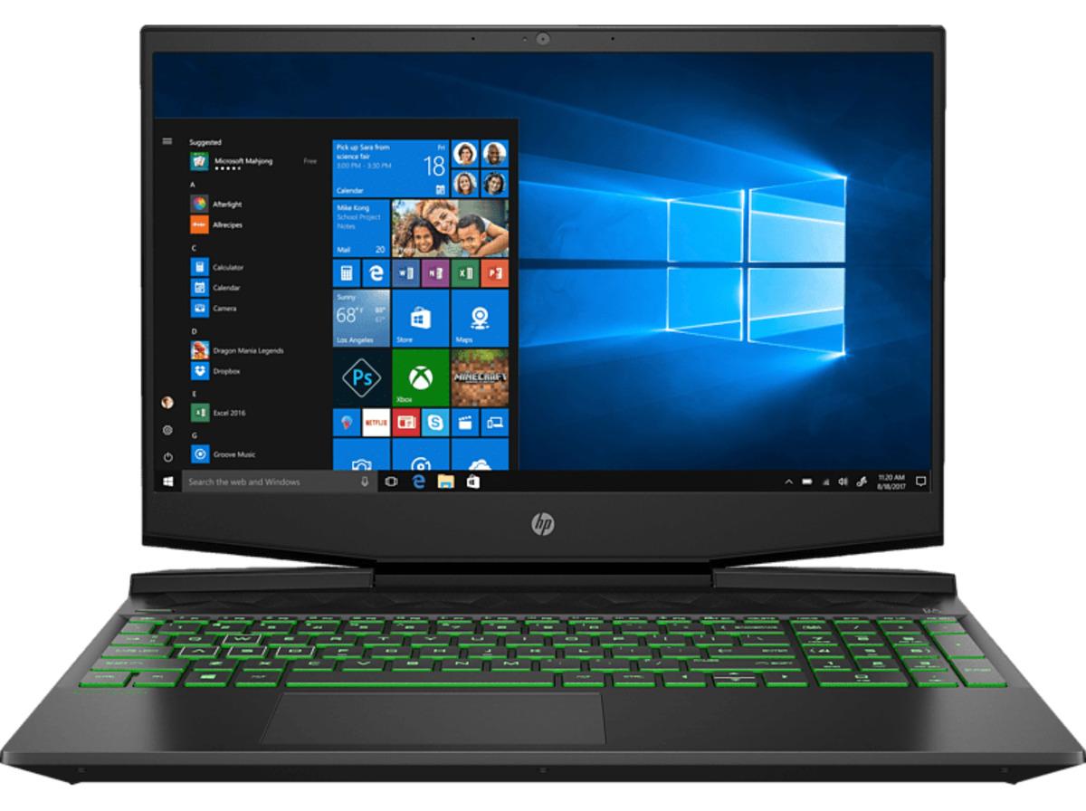 Bild 2 von HP Pavilion 15-dk1325ng, Gaming Notebook mit 15.6 Zoll Display, Intel® Core™ i5 Prozessoren der 10. Generation Prozessor, 8 GB RAM, 512 GB SSD, GeForce® GTX 1650, Schwarz