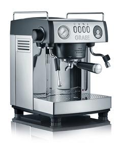GRAEF ES 902 Baronessa Espressomaschine Edelstahl hochglänzend/Aluminium schwarz-matt lackiert