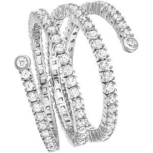 """Vandenberg Damen Ring """"Flex"""", 3-reihig, 925er Silber"""