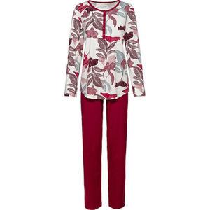 Calida Schlafanzug, Henley-Ausschnitt, Print, für Damen