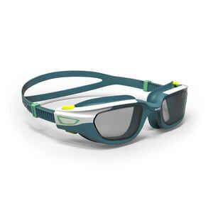 Schwimmbrille 500 Spirit Größe S blau/weiß getönte Gläser