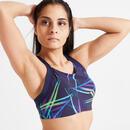 Bild 2 von Sport-Bustier FBRA 520 Fitness Cardio Damen marineblau mit Print