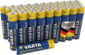 VARTA »Industrial Pro Batterie AAA Micro Alkaline Batterien LR3 umweltschonende Verpackung 40er Batterien Pack Made in Germany« Batterie