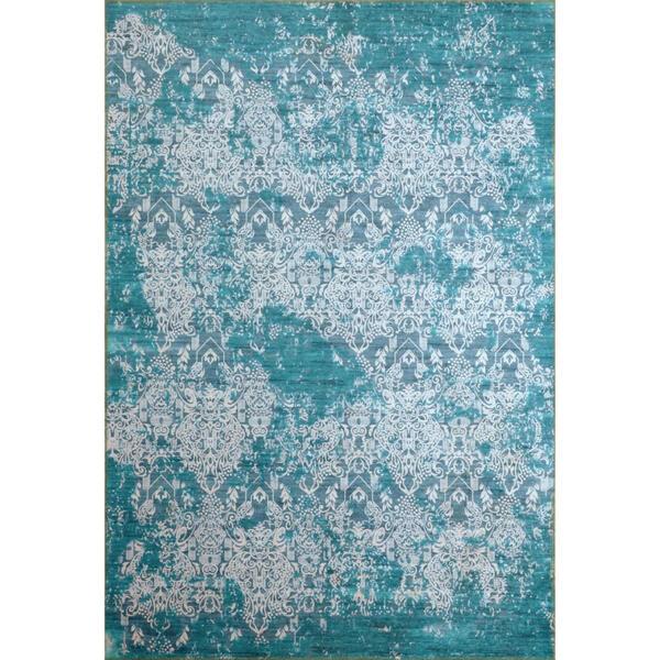 Novel Vintage-teppich 80/150 cm blau , Orleans , Textil , Abstraktes , 80x150 cm , Flachgewebe , leicht zusammenrollbar , 004618010754