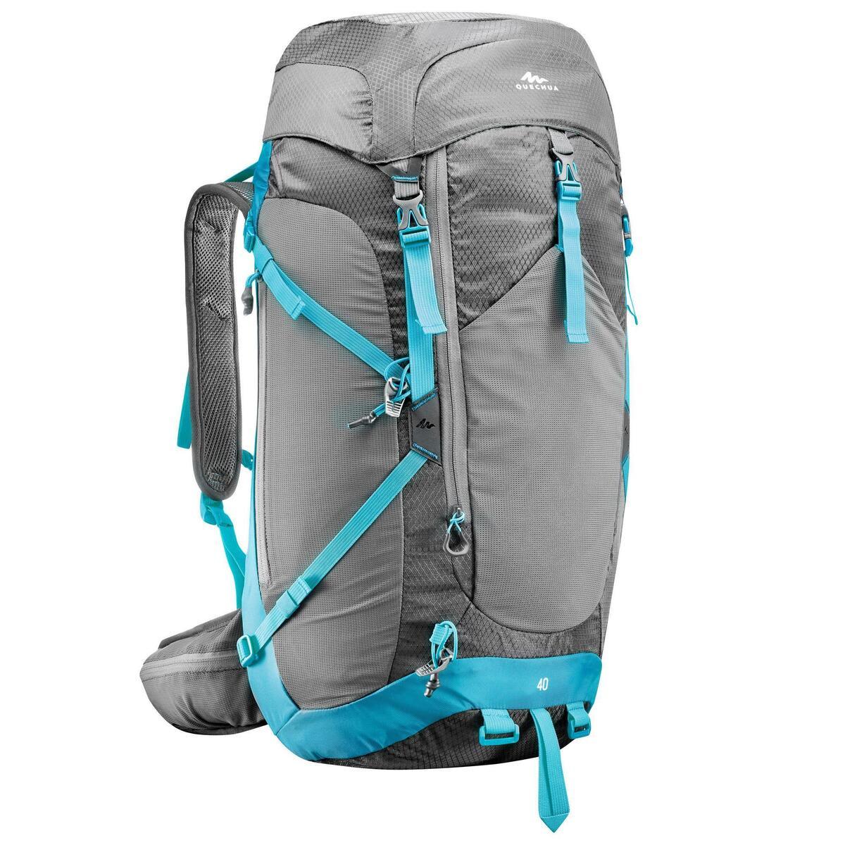 Bild 2 von Wanderrucksack Bergwandern MH500 40 Liter Damen grau/blau