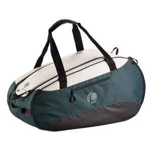 Tennistasche 500 S khaki/weiß