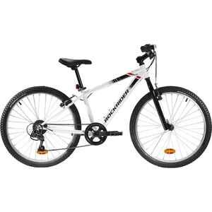 Mountainbike Kinderfahrrad 24 Zoll Rockrider ST 100 weiss