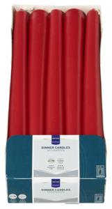 METRO Professional Spitzkerzen Rot 240 x Ø 22 mm 7 Std., 10 Stk.